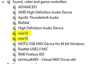 Multiple mio10 units - Unique Device Names/Port Names in